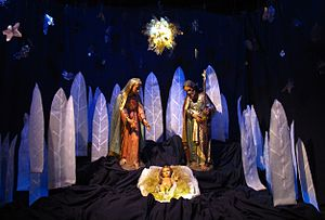 English: Nativity scene on the Buenos Aires Me...